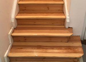 Treppen mit Dielen